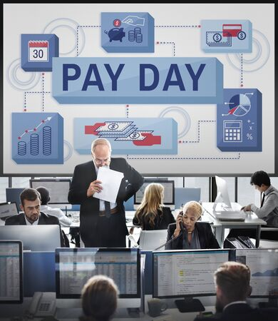 paycheck: Pay Day Salary Income Paycheck Wages Payments Concept