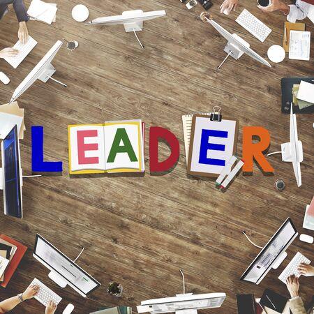and authority: Líder Liderazgo Habilidad Concepto Autoridad Influencia Foto de archivo