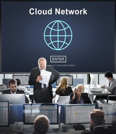 hectic: Cloud Network Connection Networking Technology Concept
