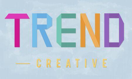 forecast: Trend Trending Trendy Fashion Forecast Design Concept Stock Photo