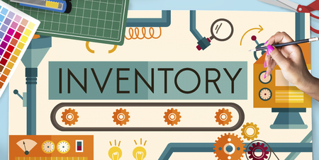 Inventaris Stock Manufacturing Assets Goederen Concept Stockfoto