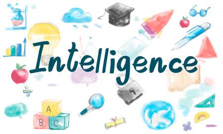 inteligent: Knowledge Intelligence Wisdom Study Ideas Concept