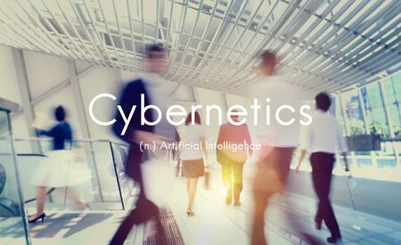 cybernetics: Cybernetics Artificial Intelligence Technology Graphic Concept