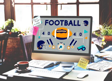 offence: Football Game Ball Play Sports Graphics Concept