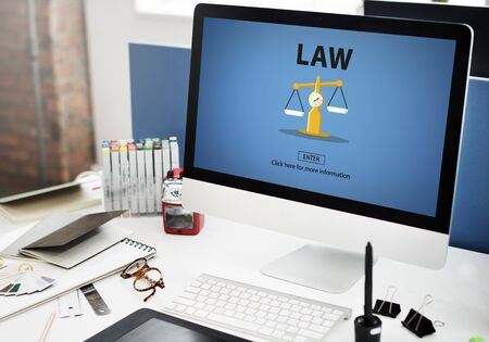 lawful: Law Judgement Rights Weighing Legal Concept