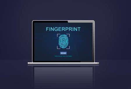 odcisk kciuka: Papilarnych Tożsamość Thumbprint Id Concept