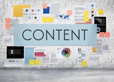 multimedia: Content Bloggng Multimedia Social MEdia Connection Concept Stock Photo
