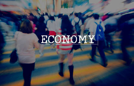 finance concept: Economy Banking Budget Costs Currency Finance Concept Stock Photo