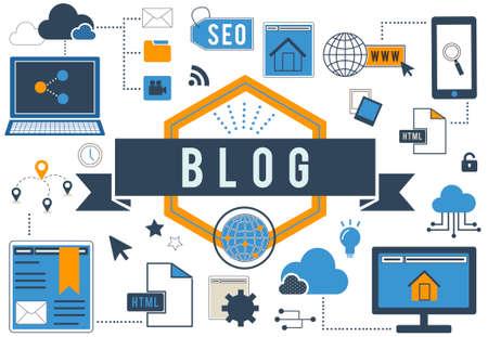 blogging: Blog Blogging Online Internet Concept