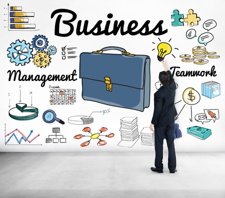 Businessman with business concept 写真素材 - 110546651