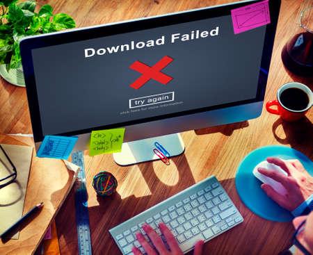 retry: Crisscross Icon Download Failed Concept