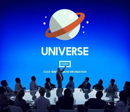 interstellar: Universe Galaxy Earth Globe  Interstellar Science Concept Stock Photo