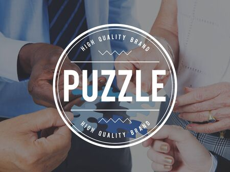Puzzle Solving Confuse Connect Problem Solution Concept Stock Photo