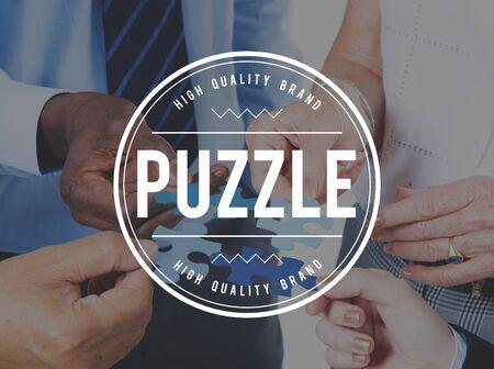 confound: Puzzle Solving Confuse Connect Problem Solution Concept Stock Photo