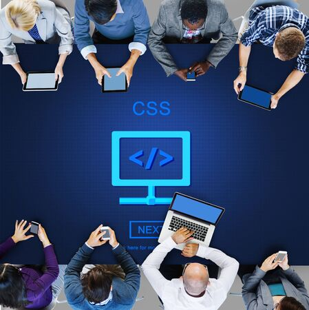 css: CSS Web Programming Technology Style Concept Stock Photo