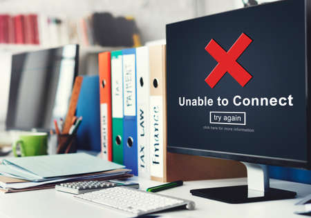 inaccessible: Unable to Connect Disconnected Inaccessible Unavailable Concept