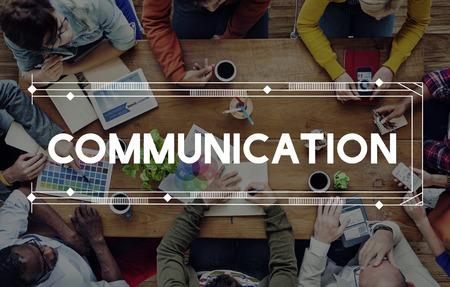 Communication Communicate Discussion Conversation Concept Stock Photo