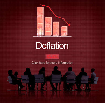 bounce: Deflation Bounce Currency Economy Financial Concept
