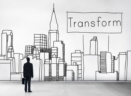 transforming: Transform Transformation Change Evolution Concept Stock Photo