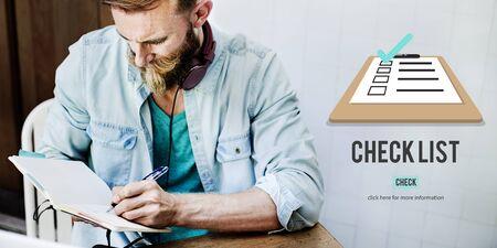 checklist: Checklist Choice Decision Document Mark Concept Stock Photo