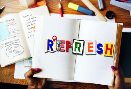 renew: Refresh Restart Renew Rejuvenate Concept