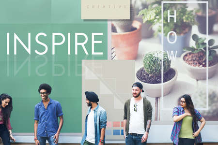 expressing artistic vision: Inspire Aspiration Expectation Imagination Concept Stock Photo