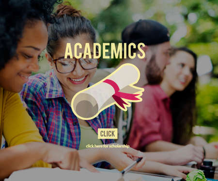 academics: Academics School Education Collage Concept