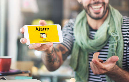 notice: Alarm Alert Important Notice Schedule Concept Stock Photo
