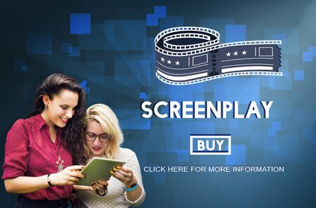 screenplay: Screenplay Proofreader Story Write Copyright Concept Stock Photo