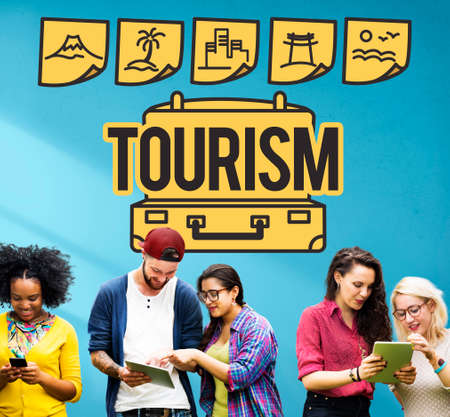 campus tour: Tourism Travel Journey Trip Tour Concept Stock Photo