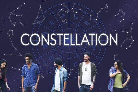 telling: Constellation Astronomy Horoscope Fortune Telling Zodiac Concept