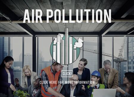 atmosfera: Contaminación del aire ambiente químico Concepto Agotamiento