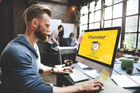 notice: PLanner Schedule Notice Concept Stock Photo