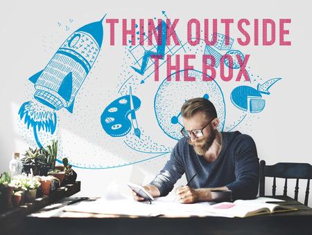 Think Outside The Box Ideas Creativity Imagination Concept