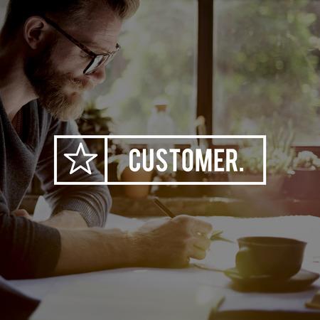 shopper: Customer Satisfaction Consumer Service Shopper Concept