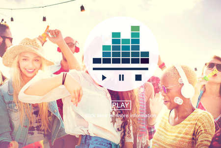 equaliser: Music Player Media Audio Play Concept Stock Photo