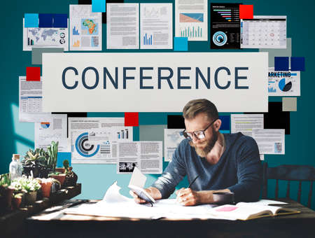 confer: Conference Meeting Seminar Event Strategy Concept