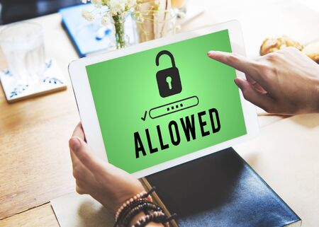 allowed: Allowed Access Anytime Available Possible Usable Concept