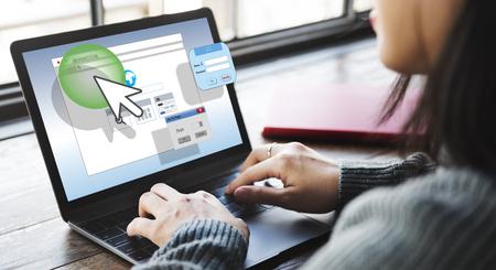 Web セキュリティ インターネット保護安全コンセプト 写真素材