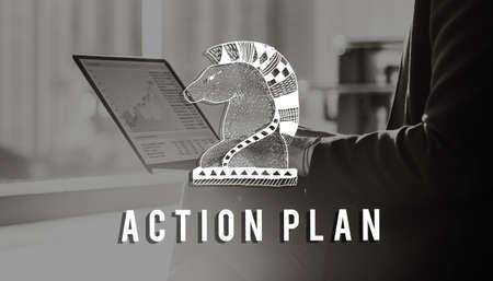 plan de accion: Plan de acci�n de la inspiraci�n Active Business Vision Concept
