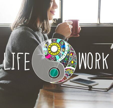work life balance: Life Work Balance Stability Wellbeing Concept
