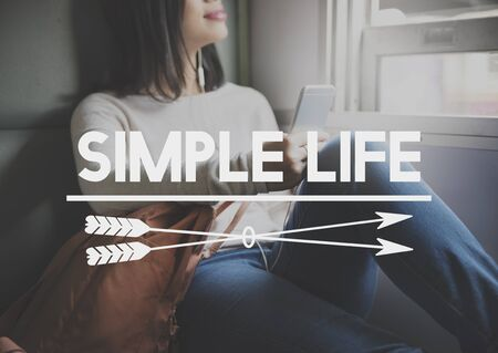 simple life: Simple Life Balance Happiness Lifestyle Mind Concept Stock Photo