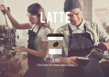latte: Coffee Latte Beverage Drink Cup Concept