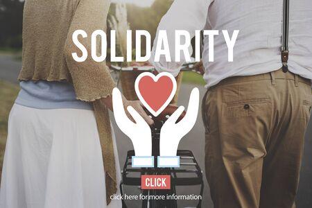 solidaridad: Organización de Caridad solidaridad Concepto Ayuda Social