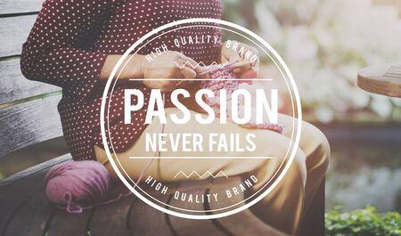 fails: Passion Never Fails Emotion Optimism Concept Stock Photo
