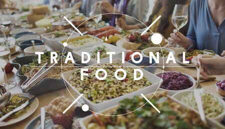 nourishment: Traditional Food Eating Nourishment Nutrition Concept Stock Photo