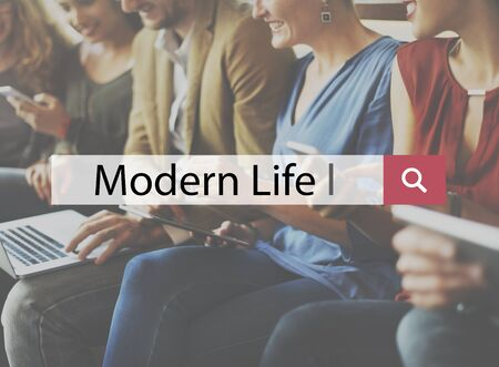 modern life: Modern Life Active Nutrition Exercise Personal Concept