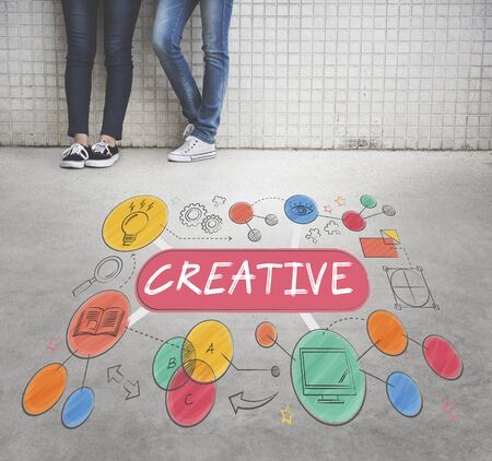 invention: Creative Creativity Thinking Invention Concept Stock Photo