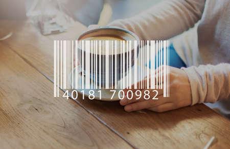 coffe break: Barcode Mark Sign Market Item Concept Stock Photo