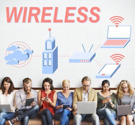 modem: Wireless Connection Internet Modem Network Concept